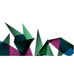 triangle geometric background in trendy style on vector image