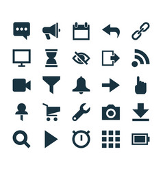 User icons set collection of photo sandglass vector