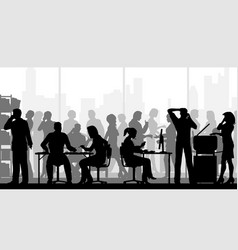 very busy office vector image