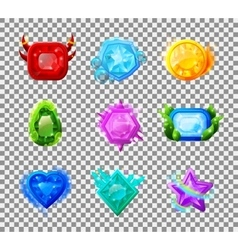Web Game Magic Gems vector