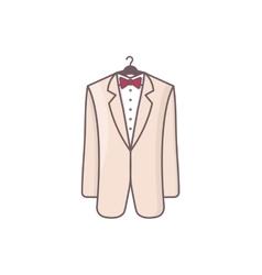 Wedding men suit vector
