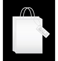 White shopping bags eps10 vector image