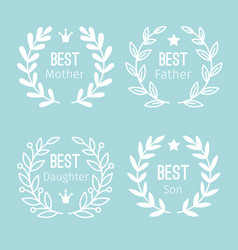 Wreath label set vector