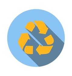 Yellow circular arrows icon flat style vector