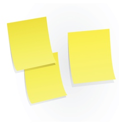 yellow sticky papers vector image