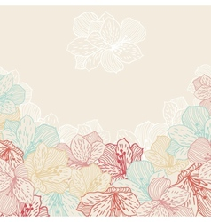 Abstract elegance seamless flower background with vector image