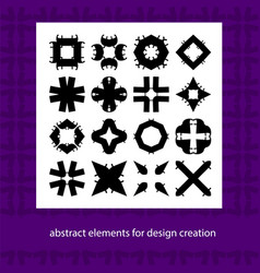 Abstract elements for design ideas suits for vector