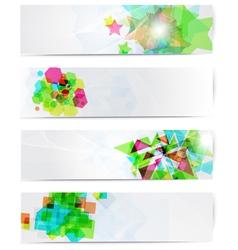 Abstract modern website banner set vector image vector image