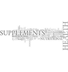 Are the health supplements safe text word cloud vector