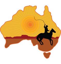Australian Horseman vector image vector image