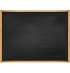 Empty blackboard with wooden frame Template vector image