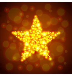 Gold glowing star background vector image
