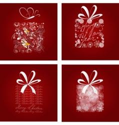 set of Christmas card vector image