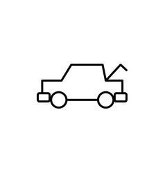 trunk opened car icon vector image