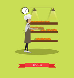 baker concept in flat style vector image vector image