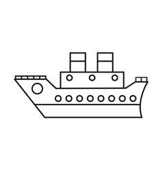 boat cruise travel sea thin line vector image