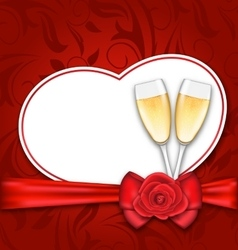 Celebration Card Heart Shaped for Happy Valentines vector image vector image