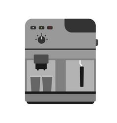 Coffee maker machine caffeine modern drink kitchen vector