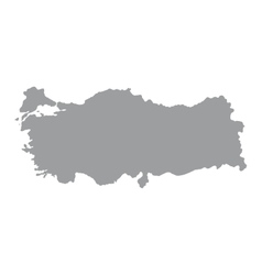 Turkey map on a white background vector image