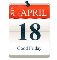 Good Friday 2014 vector image