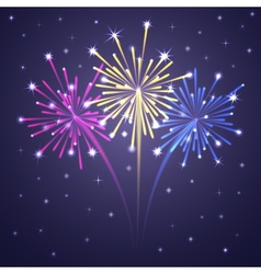 fireworks colorful 1 vector image vector image