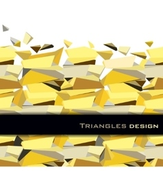 Golden abstract geometric background vector image