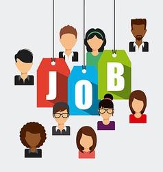 search job vector image vector image