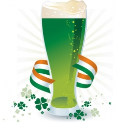 St Patrick's day beer vector image vector image