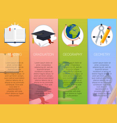 steps of education process education and science vector image vector image