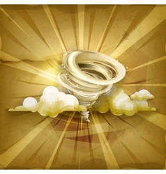 Tornado old style background vector image vector image