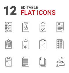 12 clipboard icons vector