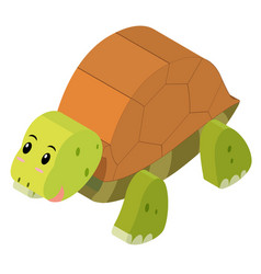 3d design for cute turtle vector image