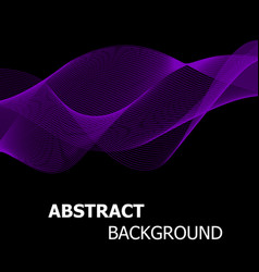 abstract purple line wave background vector image