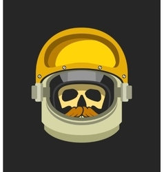astronauts helmet with a dead man vector image