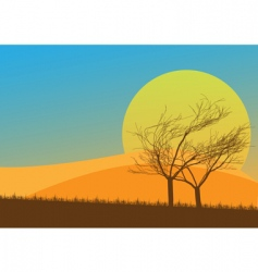 autumn countryside vector image