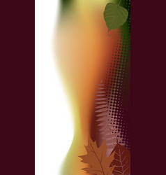 autumn vertical banner with a space for a text vector image