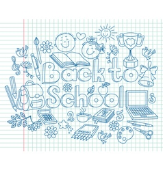 Back to school composition vector image