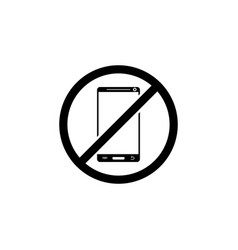 Ban on the use of mobile phones icon element of vector