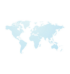 blue abstract dotted world map vector image