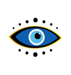 Blue evil eyes symbol talisman amulet icon vector