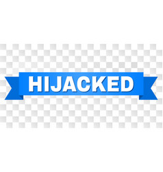 Blue stripe with hijacked text vector