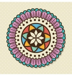 bohemian background design vector image
