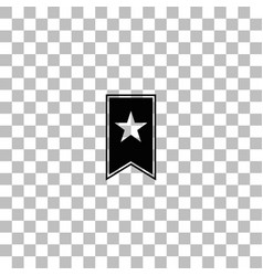 Bookmark icon flat vector