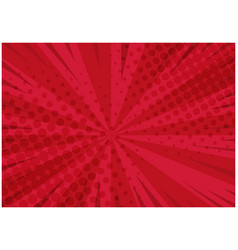 Bright red retro comic background vector