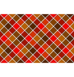 Brown red diagonal check seamless pattern vector