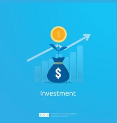 business concept of achievement goal return on vector image