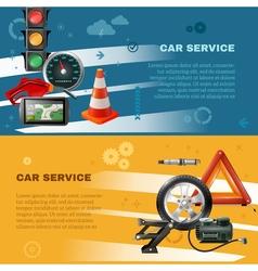 Car Maintenance Horizontal Banners vector image