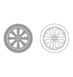car wheel it is black icon vector image