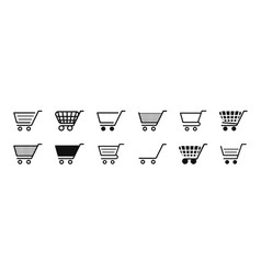 cart icon trolley for shop symbol online vector image