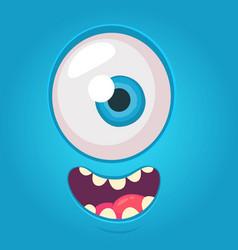 Cartoon alien face square seamless avatar vector